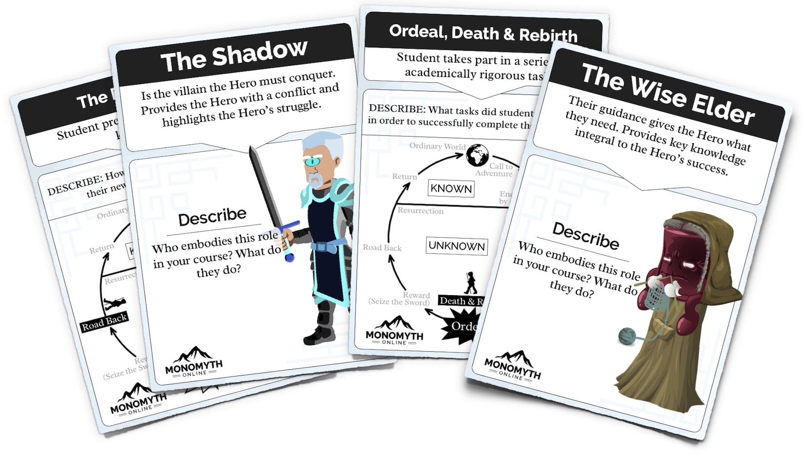 4 cards from the Epic Heroes game